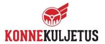 Konnekuljetus logo valkealla taustalla